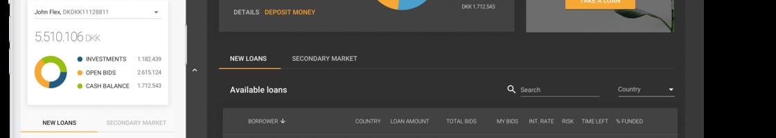 Flex Funding desktop + mobile application mockup