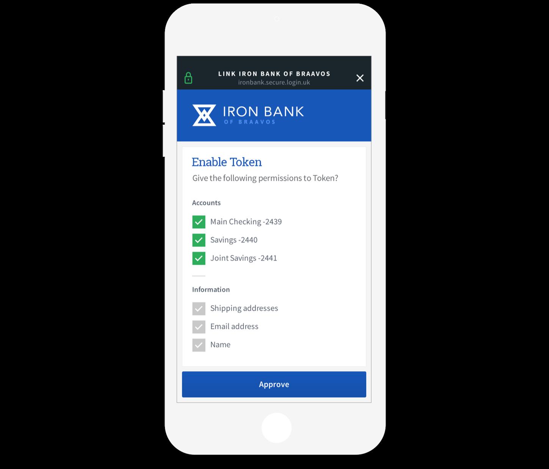 Token open banking app