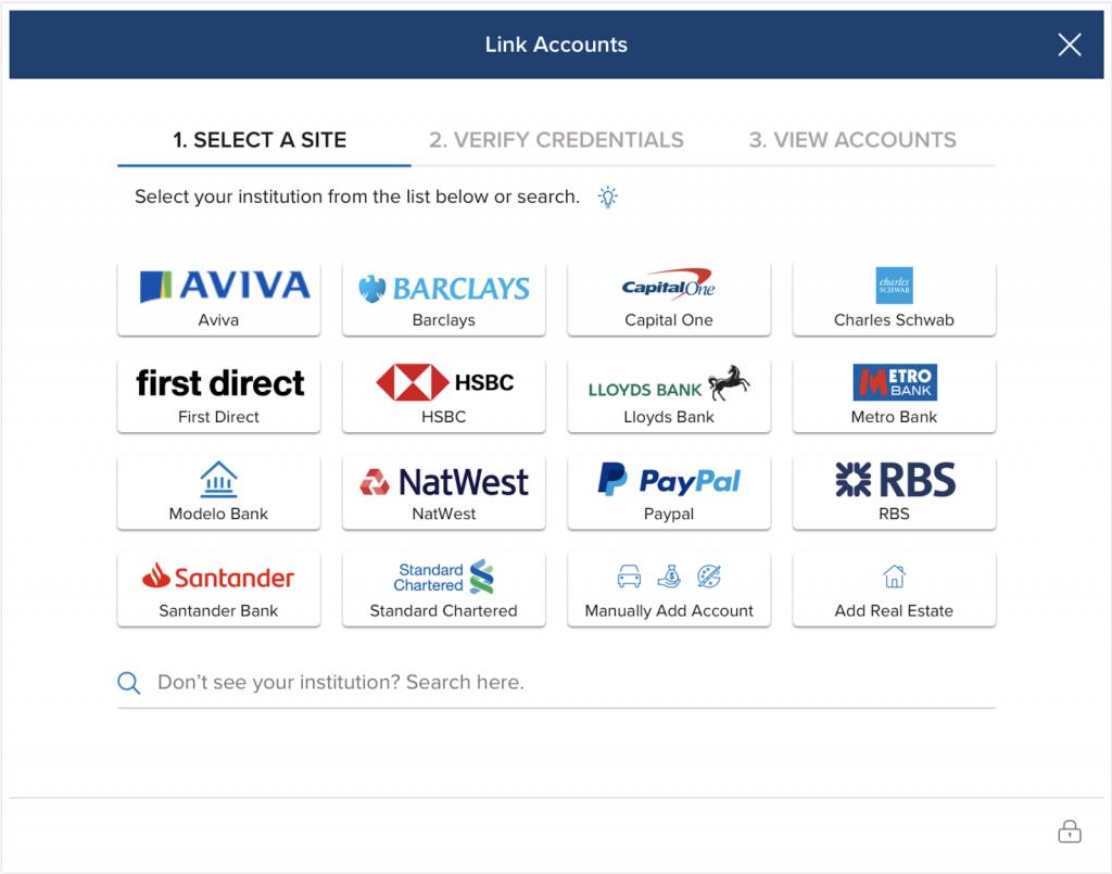 Yodlee open banking app