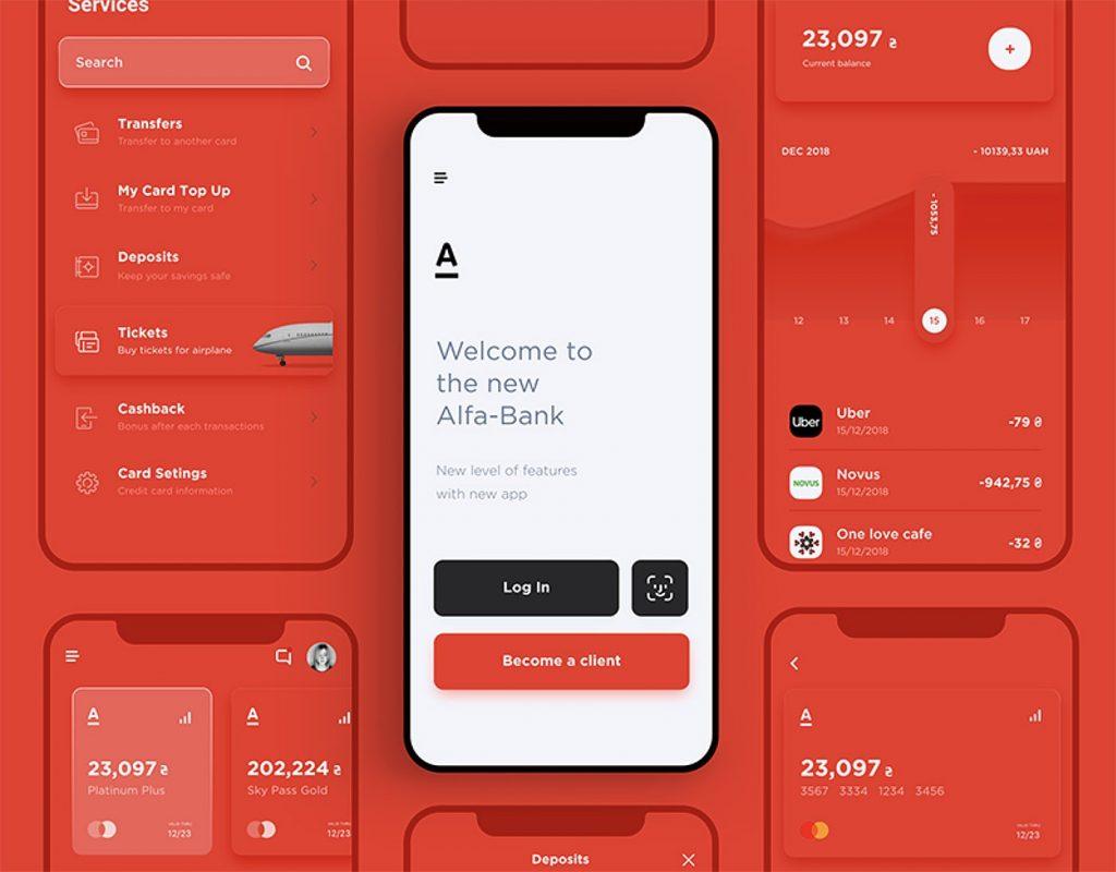 Design system examples - Alfa Bank