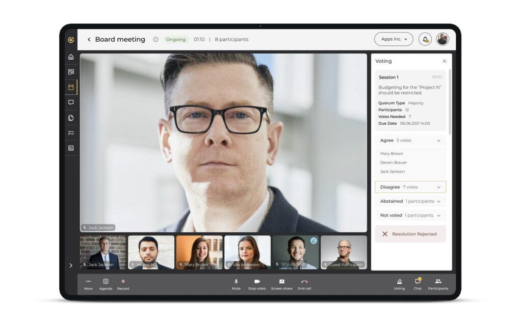 Omana'a UX/UI Design - Video call view